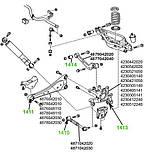 14-11 Сайлентблок заднего продольного рычага передний Toyota RAV 4 (30, 40); 4876042010; 4878042010, фото 3