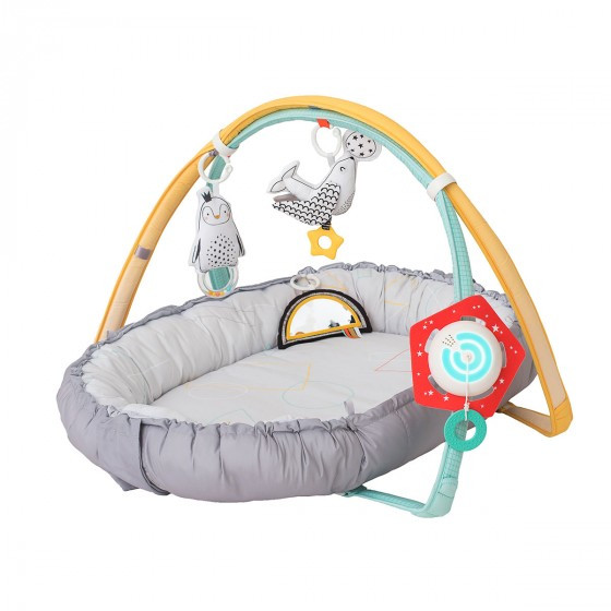 Развивающий музыкальный кокон с дугами коллекции «Полярное сияние» 4-в-1 – Уютное гнездышко  Taf Toy