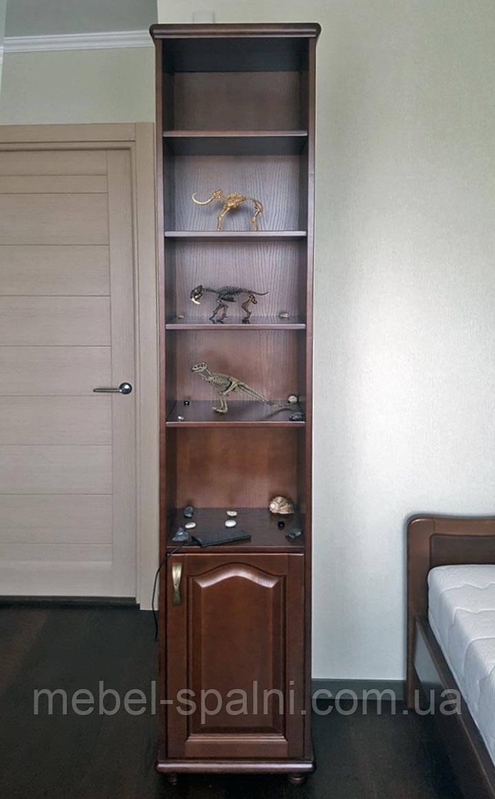 """Шкаф в гостиную """"Соло 1"""" деревянный книжный стеллаж для книг сервант витрина"""