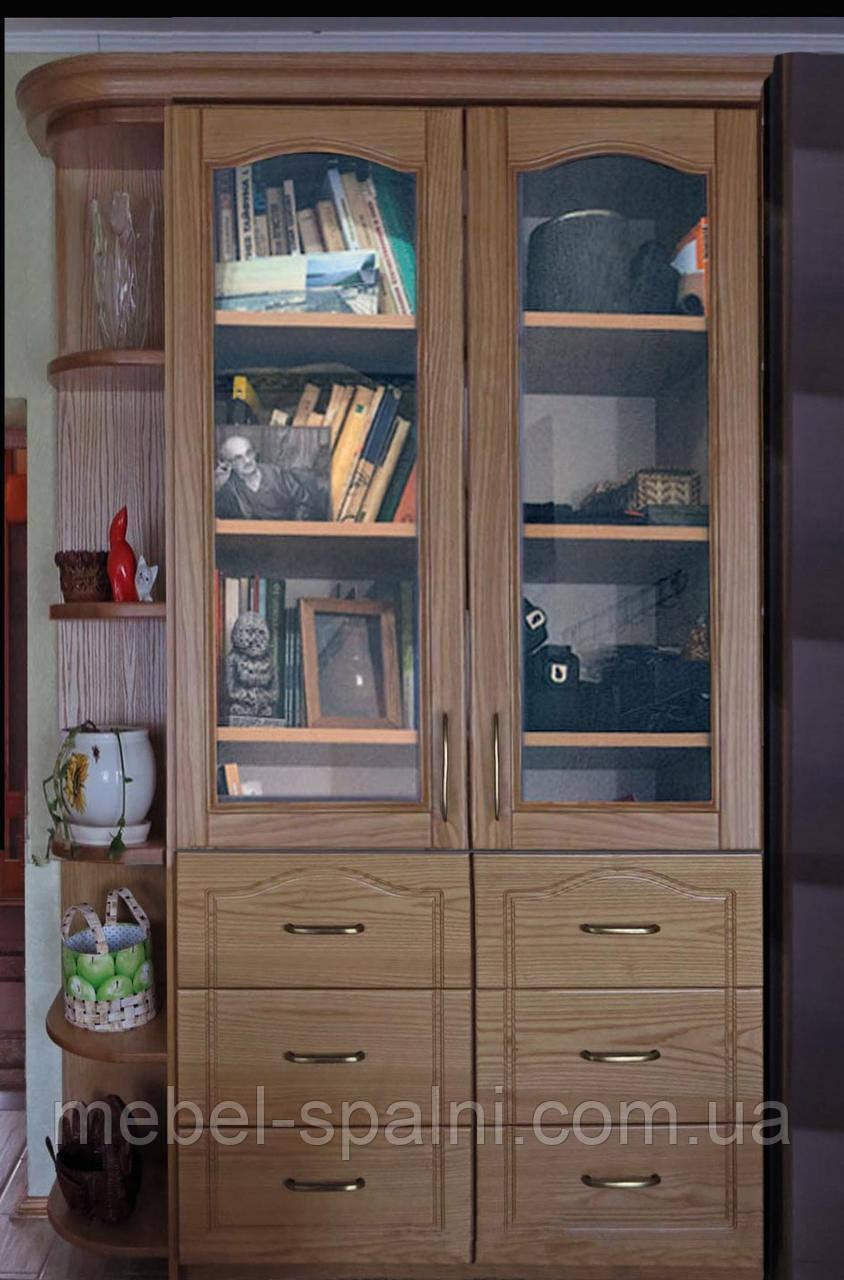 """Шкаф в гостиную """"Дуэт 9"""" деревянный книжный стеллаж для книг сервант витрина"""