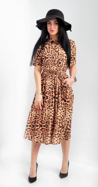 Платье-рубашка длины миди размеры 42,44,46,48