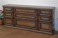 Комод деревянный 3.3.3 с ящиками в спальню белый от производителя