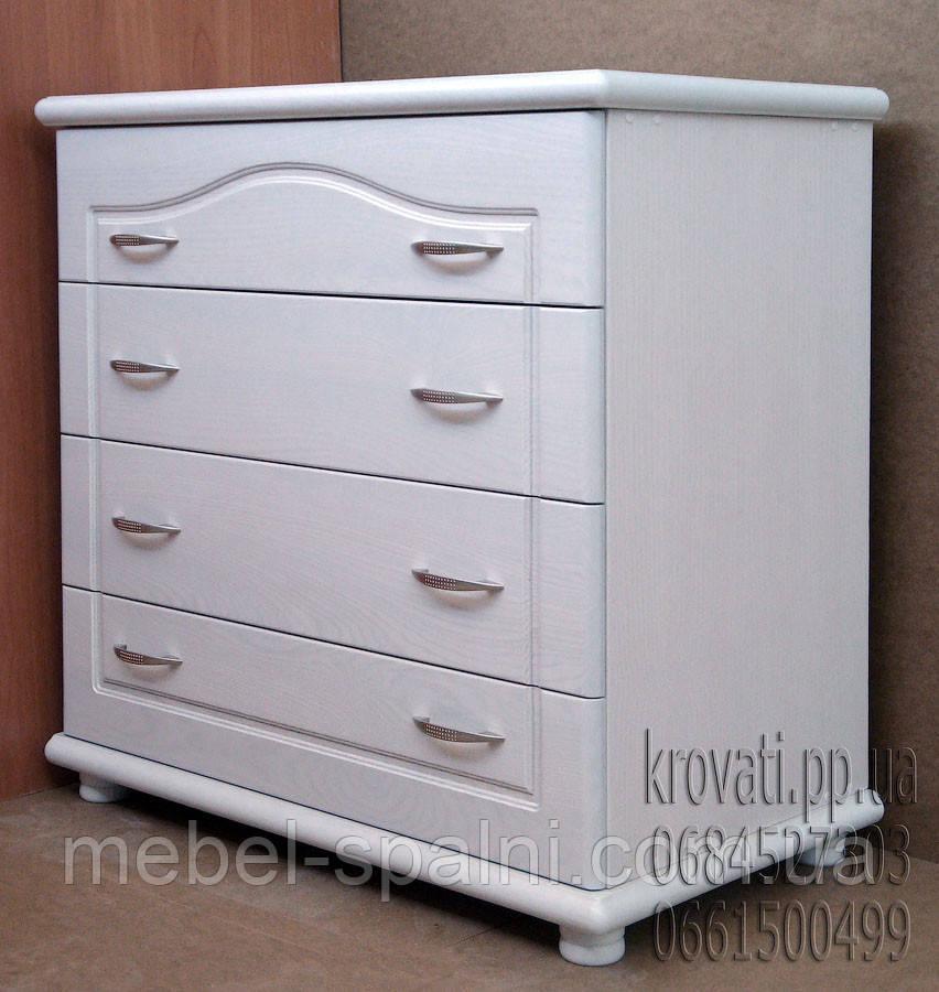 """Комод дерев'яний """"Стандарт 3"""" з ящиками в спальню білий від виробника"""