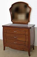 """Комод деревянный с зеркалом """"Маркиз"""" с ящиками в спальню белый от производителя"""