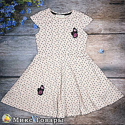 Плаття ніжного персикового кольору для дівчинки Розміри: 110,116,122 см (8463-2)
