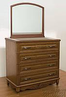 """Комод деревянный с зеркалом """"Барон 2"""" с ящиками в спальню белый от производителя, фото 1"""