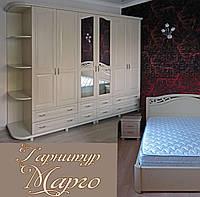 """Мебель для спальни """"Марго 2"""" спальный гарнитур. Красивая, деревянная белая спальня"""