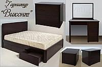 """Мебель для спальни """"Виконт 2"""" спальный гарнитур. Красивая, деревянная белая спальня"""