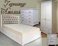 """Меблі для спальні """"Амелія"""" спальний гарнітур. Красива, дерев'яна біла спальня, фото 1"""