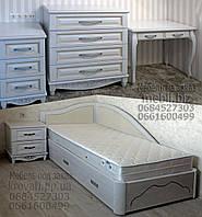 """Мебель для спальни """"Лорд 1"""" спальный гарнитур. Красивая, деревянная белая спальня"""