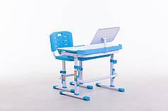 Комплект парта+стілець SportMax М 7038 + підставка для книжок в подарунок блакитного кольору