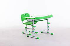 Комплект парта+стілець SportMa М 8045 + НАСТІЛЬНА ЛАМПА + підставка для книжок в подарунок блакитного кольору