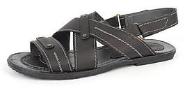 Мужские кожаные сандалии 2 в 1 Украина Esset, Черный, 41