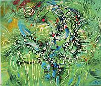 Авторская живопись Картина маслом Большая интерьерная абстракция Диптих Триптих Декор в офис кафе гостиную
