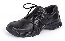 Ботинки кожаные черные на шнуровке TM Jela Германия, Черный, 31