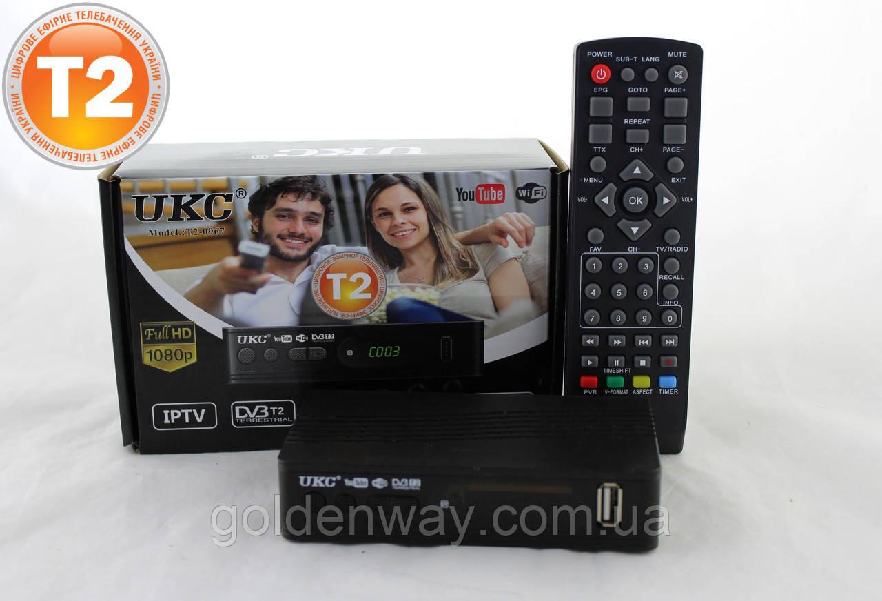 TV тюнер Т2 приемник для цифрового ТВ, DVB-Т2 UKC тв тюнер, т2 приставка 12 Вольт для автомобиля