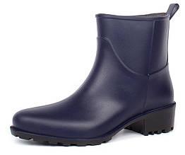 Резиновые ботильоны на каблуке Rain Angel темно-синие, Синий, 36