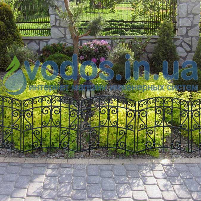 Заборчик садовый декоративный пластиковый - Большой