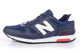 Кроссовки мужские кожаные New Balance 368 темно-синие, Синий, 41
