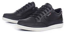 Кеды слипоны кожаные черные Ecco на шнуровке и молнии, Черный, 37