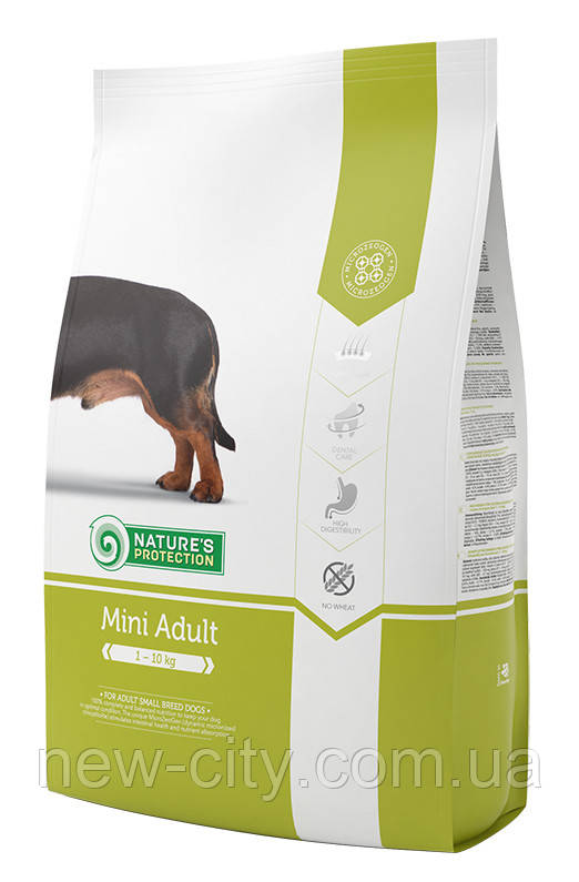 Корм Nature's Protection (Натур Протекшн) Mini Adult для взрослых собак малых пород, 7.5 кг