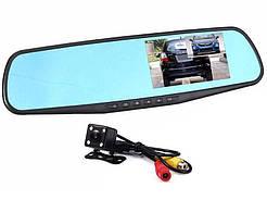 Зеркало регистратор с Двумя камерами DVR  138W 4`две камеры
