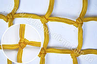 Оградительная защитная сетка (4,5мм шнур) цветная черный, 150х150