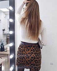 Женская юбка с леопардовым принтом, фото 2