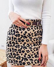 Женская юбка с леопардовым принтом, фото 3