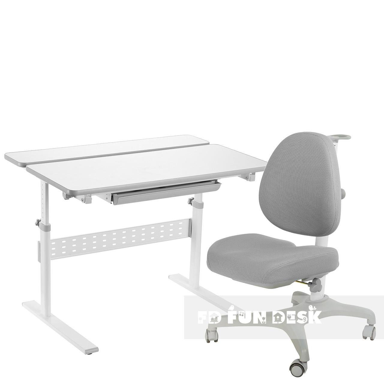 Комплект парта Colore Grey + подростковое кресло для дома Bello I Grey FunDesk