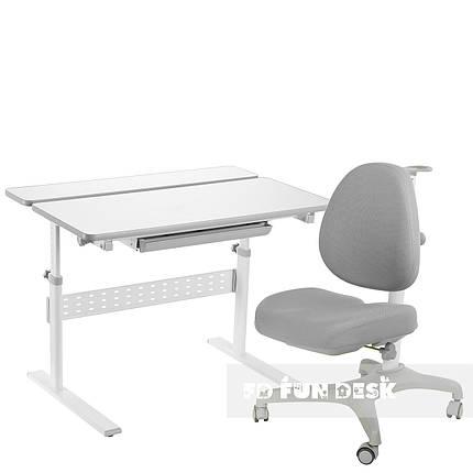 Комплект парта Colore Grey + подростковое кресло для дома Bello I Grey FunDesk , фото 2