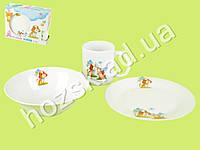 """Набор детской керамической посуды в яркой подарочной упаковке """"Друзья"""" 3 пр."""