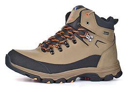 Ботинки мужские зимние кожаные трекинговые Restime Outdoor Waterproof хаки, Хаки, 44