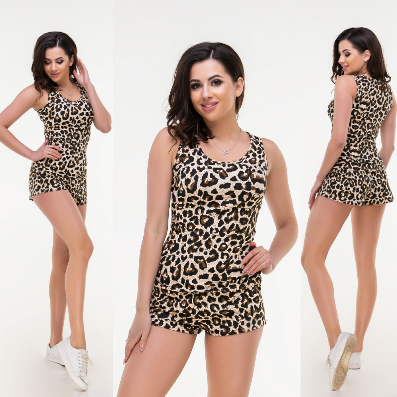 b20fec5df131 Леопардовый костюм: майка и шорты. Р-ры: 42-46, 46-48., цена 275 грн ...