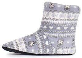 Тапочки женские домашние угги с оленями home Uggs серые с белым, Серый, 40/41