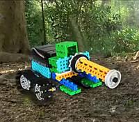 Робот-Конструктор STEM на радиоуправлении LongYeah (R721) 4 в 1: танк, рыцарь, жук, формула-1, фото 1