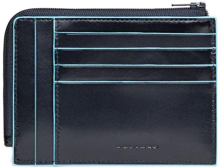 Кожаная кредитница Piquadro Blue Square (B2) PU1243B2R_BLU2, синий