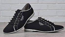 Туфли мужские кожаные на шнуровке Clowse черные, Черный, 41