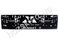 """Рамка номера пластик """"RENAULT"""" с хром. рельефной надписью 74356"""
