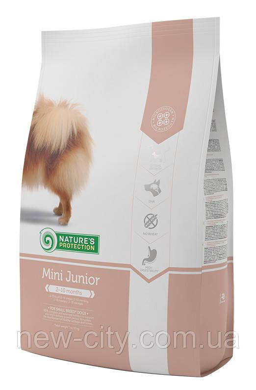 Корм Nature's Protection (Натур Протекшн) Mini Junior для щенков малых пород до 8 месяцев, 500+500г