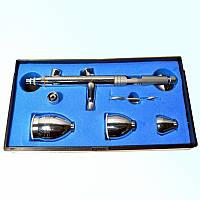Аэрограф со сменными емкостями (чашами) BD-183 с соплом 0,5мм, фото 1