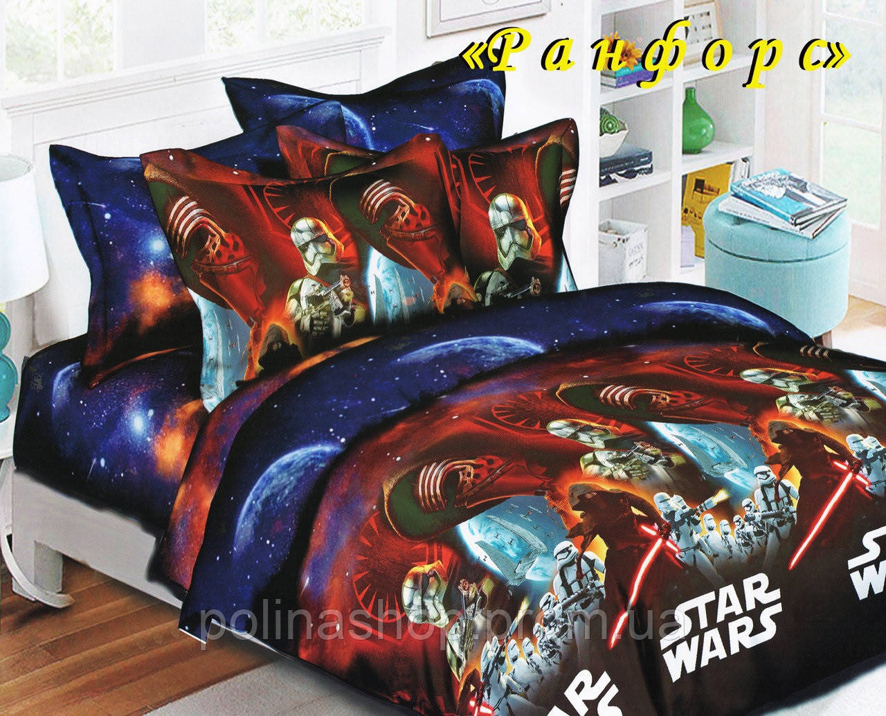 Купить Детский комплект постельного белья Тет-А-Тет Ранфорс Звездные войны Полуторный, Тет-а-Тет
