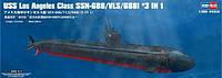 1:350 Сборная модель подводной лодки USS Los Angeles (688-class), Hobby Boss 83530