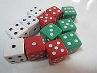 Кости игральные кубики (1,5*1,5 см)