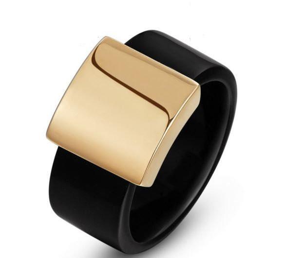 Позолоченное женское кольцо код 885