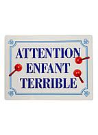"""Сервировочный коврик """"Attention enfant terrible"""" Idecale 40х30см Белый, Синий, Красный"""