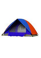 Палатка на 4 персоны Tent 205х205х140см Серый, Синий, Красный