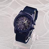 Мужские наручные часы с синим ремешком код 199