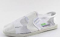 Слипоны белые сетка Т595, фото 1
