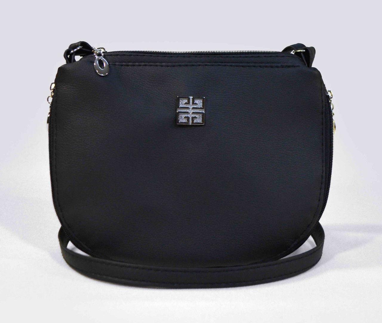 Наплечная женская черная сумка код 9-26